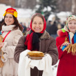 Women during Shrovetide in Russia — Stock Photo #23478747