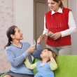 Mother hires governess — Stock Photo