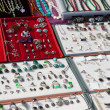Counter with silver jewelry - Foto de Stock  