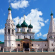 Church of Elijah the Prophet at Yaroslavl in summer - Stock Photo