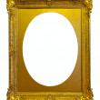 Ellipse gold picture frame — Stock Photo