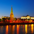 Moscow Kremlin in summer night. Russia — Stock Photo #23479879