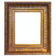Gold picture frame. Isolated   — Stock Photo