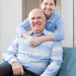Happy mature woman with husband — Stock Photo