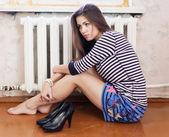 Eenzaam meisje — Stockfoto