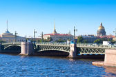 View of Saint Petersburg. Palace Bridge — Stock Photo