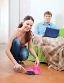 Married couple at home — Stock Photo