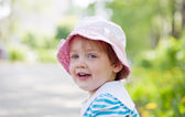 Two-year girl in summer — Stock Photo