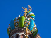 Domes of Church of the Savior on Spilled Blood — Stock Photo