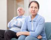 Mature married couple having quarrel — Stock Photo