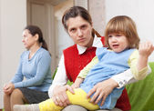Conflict between the mother and her mother — Stock Photo