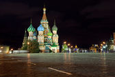 Intercession Cathedral in night. Moscow — Stock Photo