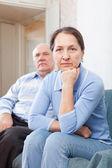 Mature family quarrel — Stock Photo