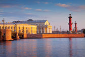 Vasilyevsky Island in summer day — Stock Photo