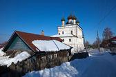 Kerk van de opstanding op gorochovets in de winter — Stockfoto