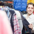 Stock Photo: Girl at clothing store