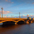 Blagoveshchensky Bridge at St. Petersburg in morning — Stock Photo #24183245
