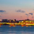 View of St. Petersburg in sunset - Stock Photo