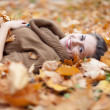 Woman in autumn park — Stock Photo #24183501