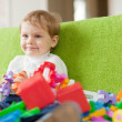 Portrait of  three-year child in home  — Stock Photo