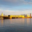 St. Petersburg. Palace Bridge in morning - Stok fotoğraf