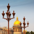 Lamppost against Saint Isaac's Cathedral — Stock Photo #24184385