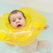 Stock Photo: Two month baby in bath