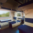 Interior of sleeper train — Stock Photo