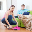 Stock Photo: Couple at home