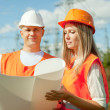 Two workers wearing protective helmet — Stock Photo #24184939
