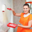 House painter paints wall — Stock Photo #24185489