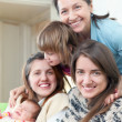 grandmother with her daughters and granddaughters — Stock Photo