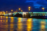 Palace Bridge in night — Stock Photo