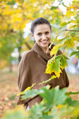 Beauty woman in september — Stock Photo