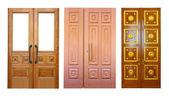 Set of wooden double doors — Stock Photo