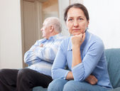 Mature couple having problems — Stock Photo