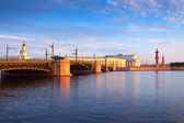 View of St. Petersburg. Spit of Vasilievsky Island — Stock Photo