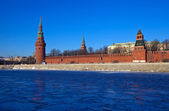 冬のモスクワ クレムリン。ロシア — ストック写真