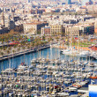 Top view of Port Vell — Stock Photo #25913815