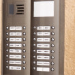 Building intercom with apartment numbers — Stock Photo