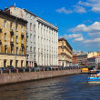 View of St. Petersburg. Moyka River in sunny day — 图库照片