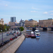 View of Moscow.  Borodinsky Bridge — Stockfoto