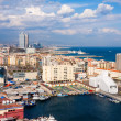 Aerial view of Barcelonseaside — Stock Photo #25914309