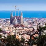 Top view with Sagrada Familia — Stock Photo