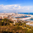 Stock Photo: Panoramview of Barcelonfrom Montjuic