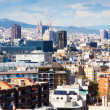 Stock Photo: Barcelonfrom Montjuic in cloudy day