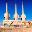 Stock Photo: Besos power thermal station in Sand Adride Besos