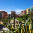 Residence district of mediterranean city. Badalona, - Photo