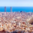 Panoramview of Barcelonin sunny day. Spain — Stock Photo #25915297
