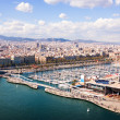Top view of Port Vell in Barcelona. Catalonia, Spain — Stock Photo